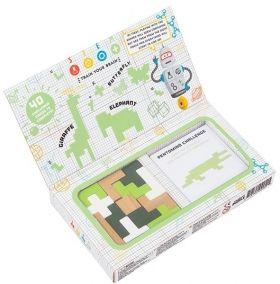 Дървена игра пъзел Professor Puzzle - STEM Pentomino and Puzzle Cards