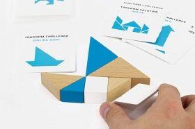 Дървена игра пъзел Professor Puzzle - STEM Tangram and Puzzle Cards