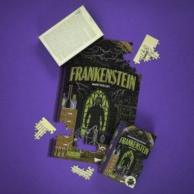 Двустранен пъзел от 252 части Professor Puzzle - Франкенщайн