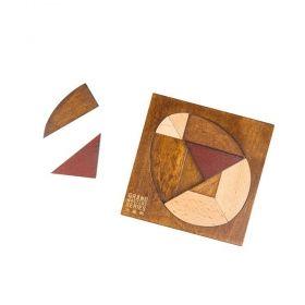 Дървен логически пъзел Professor Puzzle - Dragon's Egg Tangram