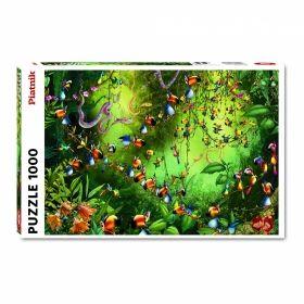 Пъзел от 1000 части Piatnik - Птици в джунглата, Франсоа Руйер