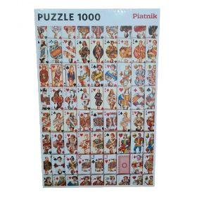 Пъзел от 1000 части Piatnik - Карти за игра