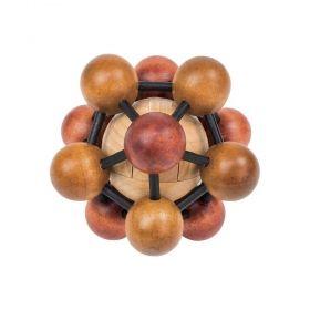 Дървен логически пъзел Professor Puzzle - Einstein's Atom