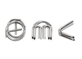 Комплект метални логически пъзели Professor Puzzle - E=mc2