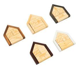 Комплект дървени логически пъзели Professor Puzzle - House Riddle