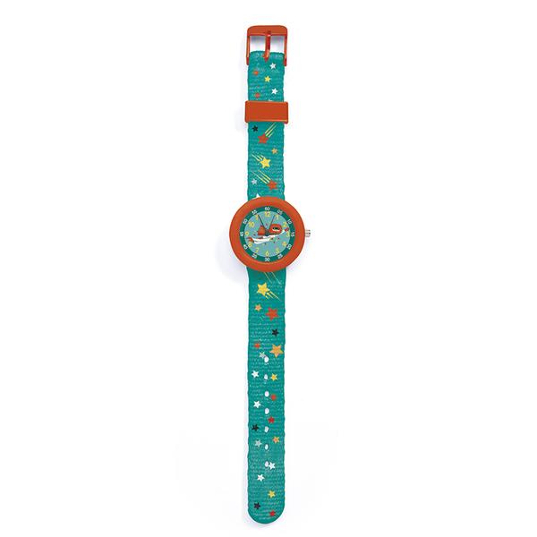 Ръчен часовник Djeco - Montre Super Heroes, червен-зелен