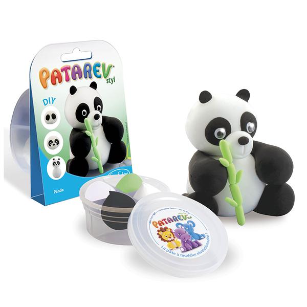Sentosphere направи панда с цветен моделин Patarev