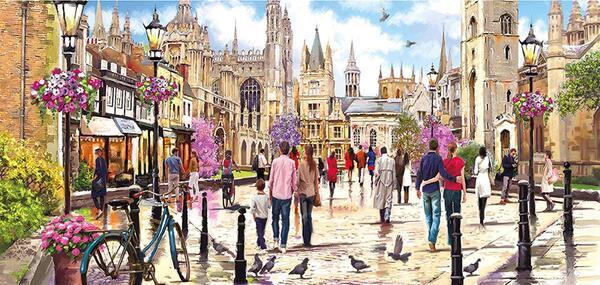 Панорамен пъзел Gibsons от 636 части - Кеймбридж, Ричард Макнийл