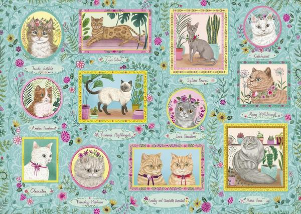 Пъзел Gibsons от 1000 части - Известни котки