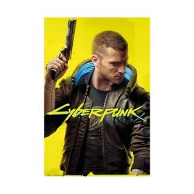 Постер Cyberpunk 2077 - Male V, 91,5 х 61 см