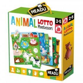 Headu Игра Лото с животни - Монтесори