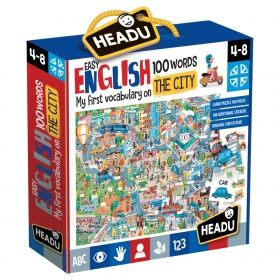 Headu  Първи 100 английски думи - Двустранен пъзел Град