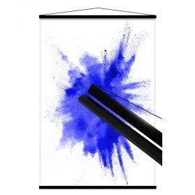 Шини за окачване на постери, 61см, черни