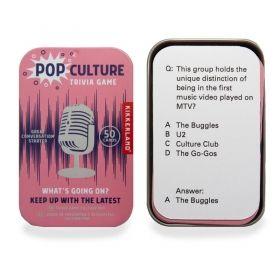 Настолна игра Kikkerland - Pop Culture Trivia Game, картова