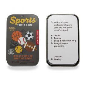Настолна игра Kikkerland - Sports Trivia Game, картова