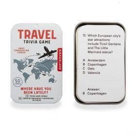 Настолна игра Kikkerland - Travel Trivia Game, картова
