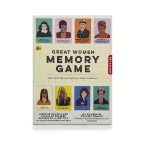 Настолна игра Kikkerland - Great Women Memory Game, картова