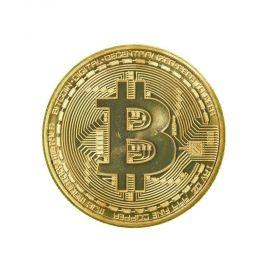 Метална монета Bitcoin