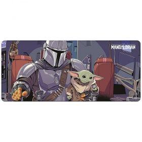 Подложка за мишка Star Wars - The Mandalorian, 80 х 35 см, водоустойчива