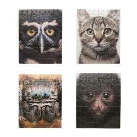Комплект от 4x пъзела по 100 части Kikkerland - Shuffleface, животни