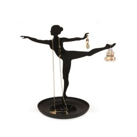 Стойка за бижута Kikkerland - Ballerina, черна