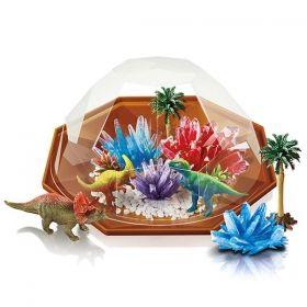 Образователен комплект 4М - Кристален терариум с динозаври