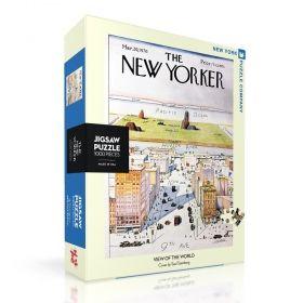 Пъзел от 1000 части New York Puzzle - Поглед към света, Саул Щайнберг