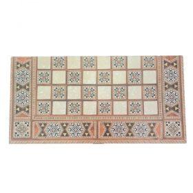 Комплект шах и табла Manopoulos - Ориенталски мотиви, 38 x 37.5 см