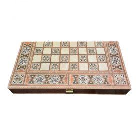 Комплект шах и табла Manopoulos - Ориенталски мотиви, 52x26 см