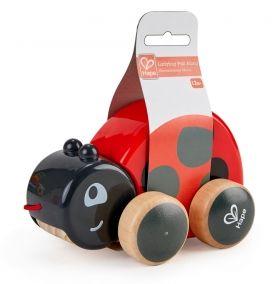 Hape  Дървена играчка за дърпане – Калинка