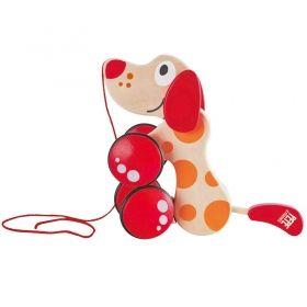 Hape Дървена играчка за дърпане - Куче