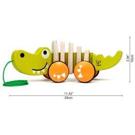 Hape  Дървена играчка за дърпане – Крокодил