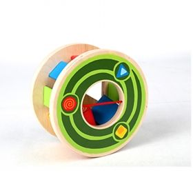 Hape  Дървена играчка за бутане – Охлюв