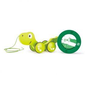 Hape  Дървена играчка за дърпане – Костенурка