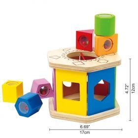 Hape Дървена играчка с форми за сортиране