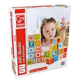 Hape Дървени кубчета с букви