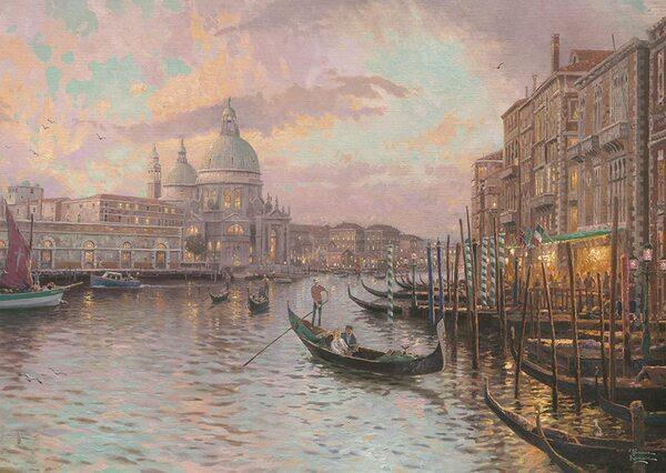 Светещ пъзел Schmidt от 1000 части - Венеция, Томас Кинкейд