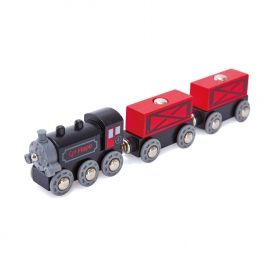 Hape Товарен влак с парен локомотив
