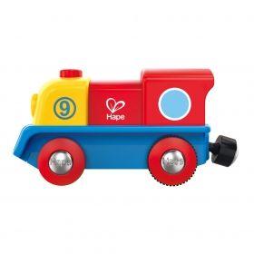 Hape Цветно локомотивче с батерия