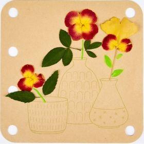 Hape Комплект за рисуване на сухи цветя