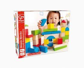 Hape  Комплект дървени кубчета 50бр