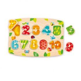 Hape  Дървен пъзел с цифри