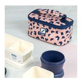 Milan чанта за храна, с 3 кутии, розова