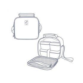 Milan чанта за храна, с 3 кутии, розово-зелена