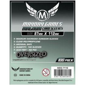 Протектори за карти Mayday Games - Magnum Sized Dungeon, прозрачни, 87х112мм, 100бр