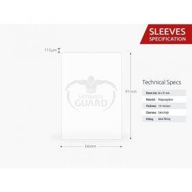 Протектори за карти Ultimate Guard - Supreme Standard Metallic, 66x91мм, сини, 80бр