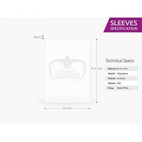 Протектори за карти Ultimate Guard - Premium Soft Standard American, 59x91.5мм, прозрачни, 60бр