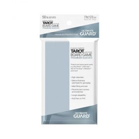 Протектори за карти Ultimate Guard - Premium Soft Tarot, 74x122мм, прозрачни, 50бр