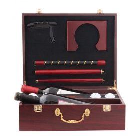 Комплект за мини голф GS-02, 7x части, дървена кутия