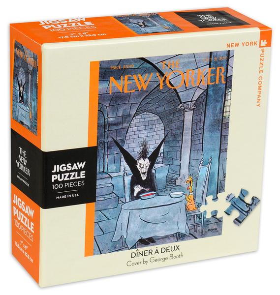 Мини пъзел New York Puzzle от 100 части - Вечеря за двама